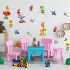 Set 20 Stickere copii - Zanele 60x90cm plansa, STKWAC0002