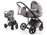 Carucior copii 2 in 1 cu landou Knorr Baby Volkswagen Carbon Optik Grey