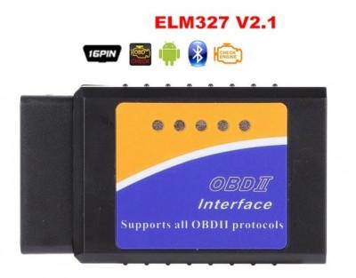 Interfata diagnoza multimarca, Bluetooth ELM 327 OBDII V2.1, Torque foto