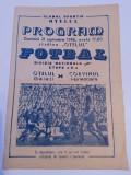 Program meci fotbal OTELUL GALATI - CORVINUL HUNEDOARA (21.09.1986)