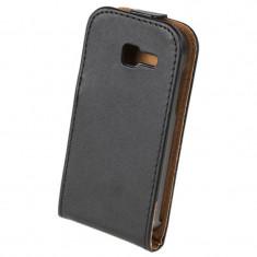 Husa Flip telefon Samsung Trend Lite, Negru