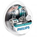 Set 2 Becuri auto cu halogen pentru far Philips H4 Xtreme Vision, +130%, 12V, 55W