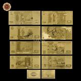 A2876 Russia Rusia 5 ... 1000 5000 ruble roubles Fantezie Aurita Aur Gold 24K
