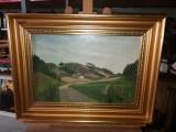 Tablou ulei pe panza  - Casuta din vale, Peisaje, Realism