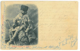 4258 - ETHNIC, Shepherd, Romania - old postcard - used - 1902