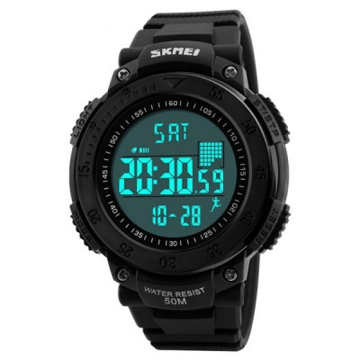 Ceas Barbatesc SKMEI CS878, curea silicon, digital watch, functie cronometru, alarma foto