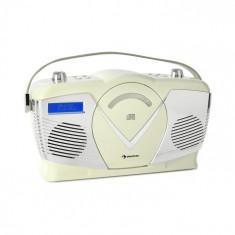 Auna RCD-70 DAB, radio retro CD, FM, DAB+, CD Player, USB, bluetooth, crem