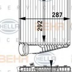 Radiator intercooler AUDI Q7 (4L) (2006 - 2015) HELLA 8ML 376 729-571