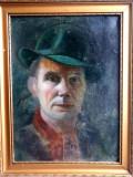 Tablou vechi, portret, deosebit