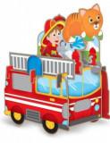 Puzzle 3D carton- Masina de pompieri