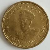 Regatul Lesotho - 1 Sente 1985 - Moshoeshoe al II-lea, Africa