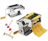 Masina de facut taitei, paste si ravioli 3-in-1 din otel inoxidabil, 9 dimensiuni reglabile pentru grosime