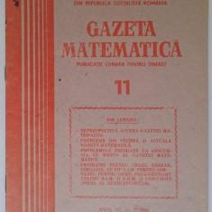 Gazeta matematica nr. 11 din 1985