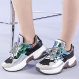 Pantofi sport dama Valentina argintii, 38 - 41