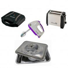 Pachet promoțional de bucătărie - mixer de mână + sandwich maker + prăjitor de pâine și tavă de cuptor cu capac