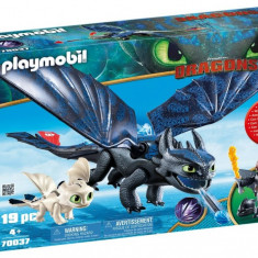 HICCUP, TOOTHLESS SI PUI DE DRAGON, Playmobil