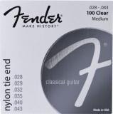 Corzi chitara clasica Fender 100 Clear/Silver Nylon Classic- Tie End 28-43