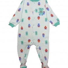 Salopeta / Pijama bebe cu roboti Z124, 1-2 ani, 12-18 luni, 9-12 luni, Din imagine