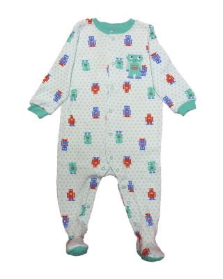 Salopeta / Pijama bebe cu roboti Z124 foto
