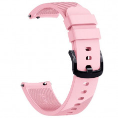 Curea silicon, compatibila Samsung Galaxy Watch Active, telescoape Quick Release, 20mm, Pink