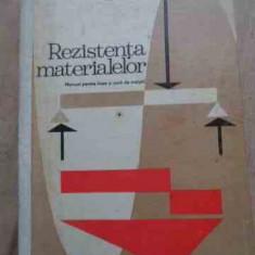 Rezistenta Materialelor Manual Pentru Licee Si Scoli De Maist - Victor Drobota, Marin Dorobantu, Mihail Atanasiu ,527552