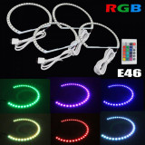 Kit angel eyes led smd bmw e39 rgb cu 16 culori cu telecomanda