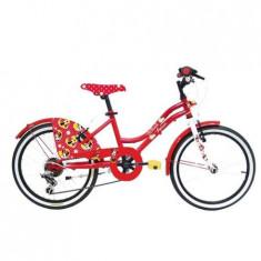 """Bicicleta pentru fete cu 6 viteze si schimbator Shimano 20"""" Denver Minnie Mouse Rosie"""