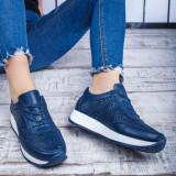 Pantofi Piele sport dama albastru Salira -rl