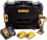 Masina compacta de insurubat cu impact cu acumulator DeWalt DCF809D2, 18 V, 2800 RPM, 3200 PPM + 2 acumulatori + incarcator + agatatoare curea + valiz