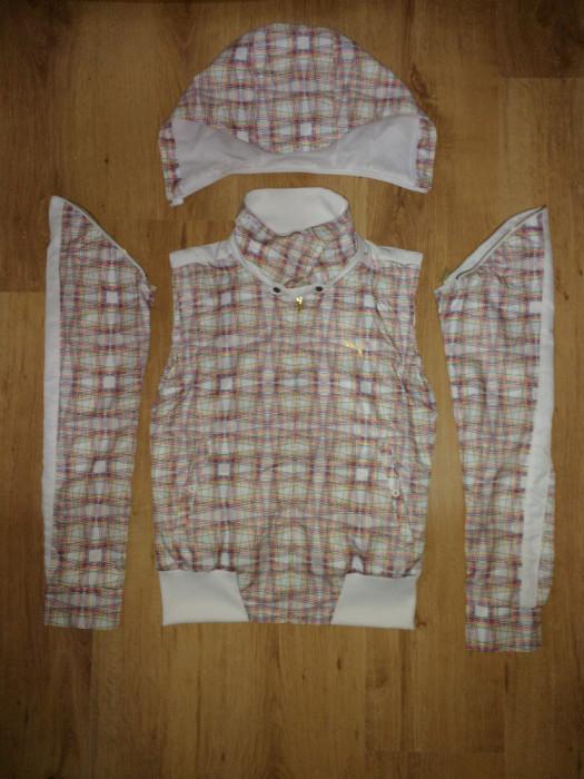 Jachetă damă Puma cu glugă si mâneci detașabile / vestă mărimea XS