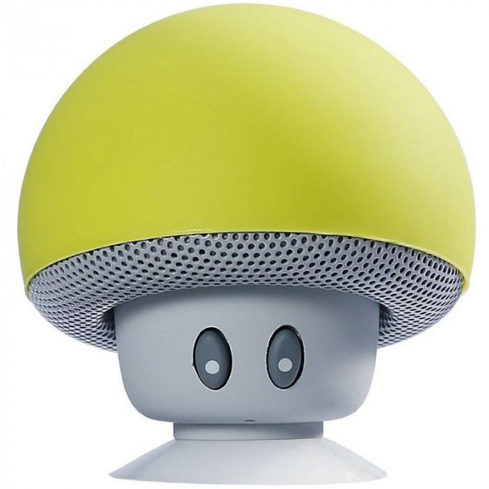Boxa Portabila Bluetooth iUni DF17, Microfon, Apeluri Handsfree, Galben