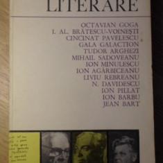MARTURISIRI LITERARE (O. GOGA, GALACTION, BRATESCU-VOINESTI, ARGHEZI, ETC.) - OR