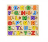 Cumpara ieftin Joc puzzle lemn litere Invatam Alfabetul