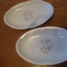 Set 2 platouri ovale pt salate, Limoges France- Charles Ahrenfeldt, 1896-1958