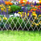 Bordura pt. pat de flori gard - extensibil, 150 x 50 cm - alb