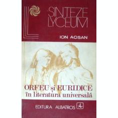 Orfeu si Euridice in literatura universala