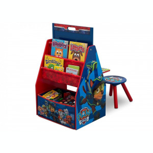 Set 2 in 1 organizator si birou cu tablita si scaun Paw Patrol Activity Center