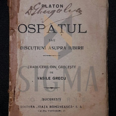 OSPATUL SAU DISCUTIUNI ASUPRA IUBIRII - PLATON