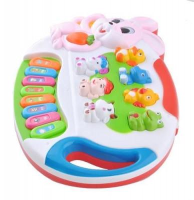 Orga de jucarie cu sunete si lumini pentru copii foto