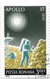 Incheierea programului Apollo, 1972 - 3,60 L, obliterat, Spatiu, Stampilat