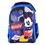 Ghiozdan clasele I-IV Pigna Mickey Mouse albastru-negru MKRS1951-2, Fata, Rucsac