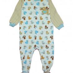Salopeta / Pijama bebe imprimeu ratuste Z93