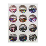 Set decoratiuni pentru unghii tip romb, Multicolor