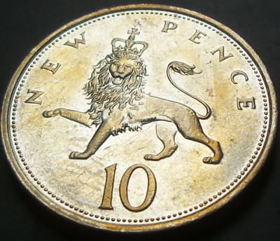 10 New Pence - Marea Britanie, anul 1976  *cod 4093 foto