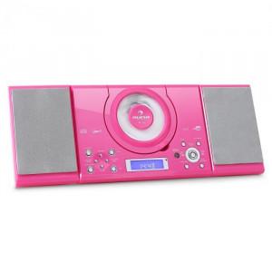 Auna Sistem stereo MC-120 Hi-Fi MP3 CD Player USB, roz