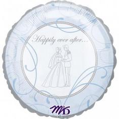 Balon nunta din folie 43cm Happily Ever After