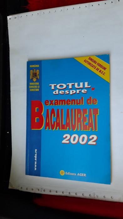 TOTUL PENTRU EXAMENUL DE BACALAUREAT MINISTERUL EDUCATIEI AUTORIZATA M.E.C