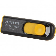 Memorie USB ADATA DashDrive UV128 32GB USB 3.0 Yellow