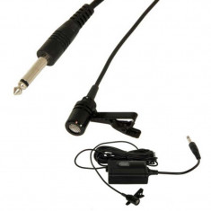 Microfon lavaliera, condensator, prindere clip, 100 Ohm, negru