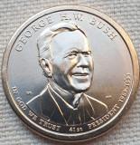 Monedă 1 Dollar 2020 USA, George H.W. Bush, 41th President, unc, litera P, America de Nord